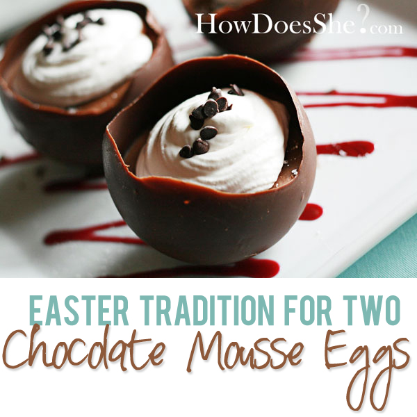 Chocolate Mousse In Chocolate Easter Egg Shell