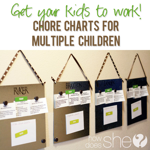 Chore Chart For Multiple Children
