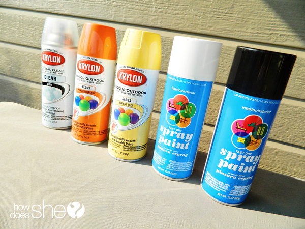 Upcycling with spray paint