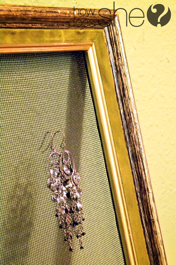 Picture Frame Earring Holder