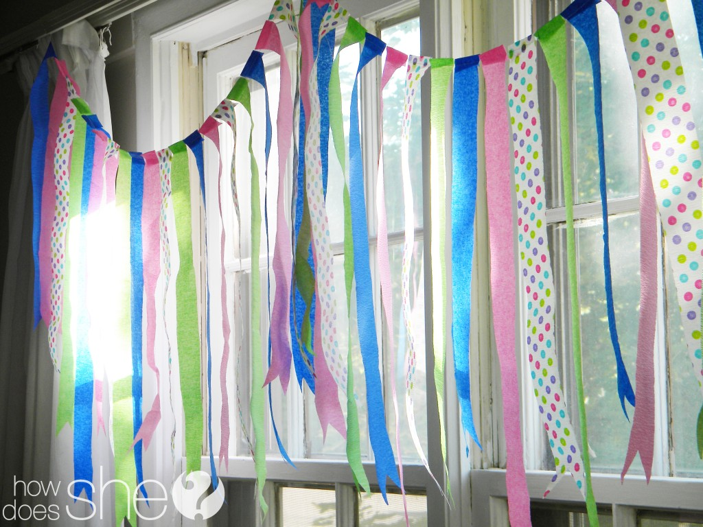 crepe paper banner