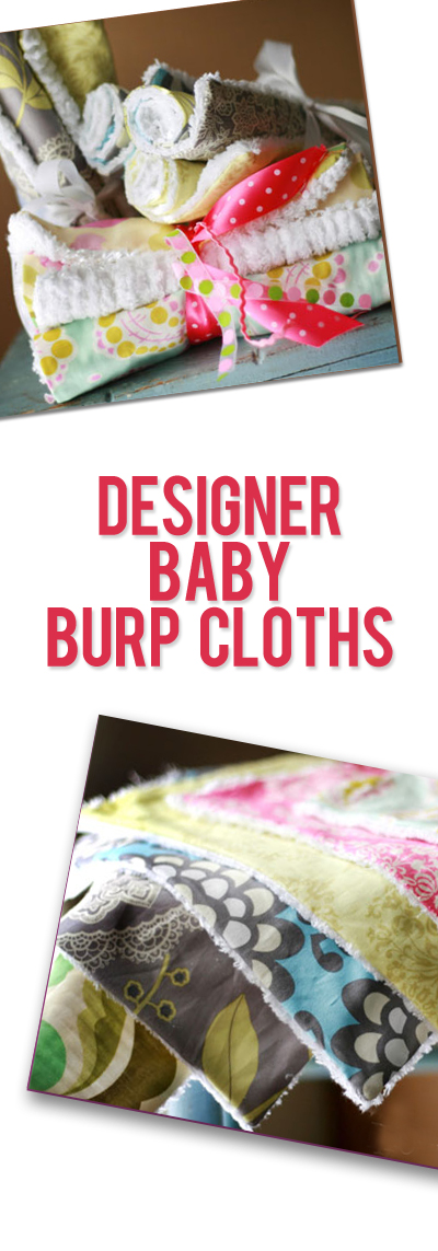 Designer Baby Burp Cloths