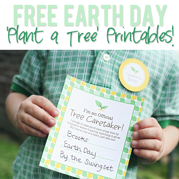 Earth Day Plant a Tree Printables
