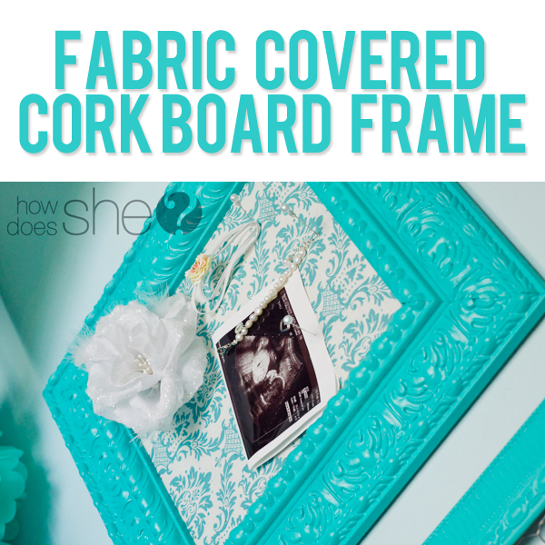 Fabric Covered Cork Board Frame