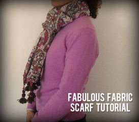 DIY fabric scarf