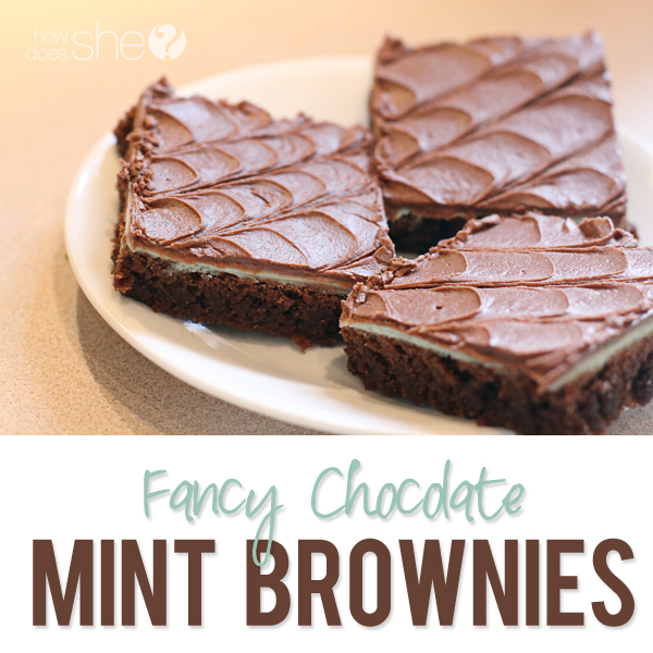 Fancy Frosted Mint Brownies