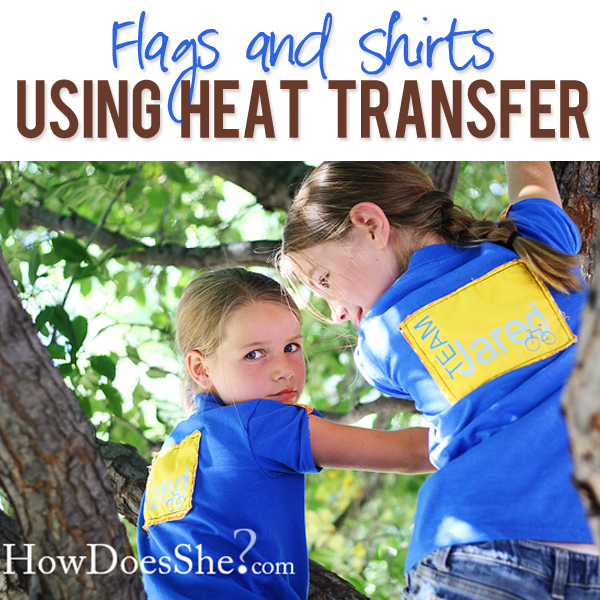 Flags and Shirts with heat transfer