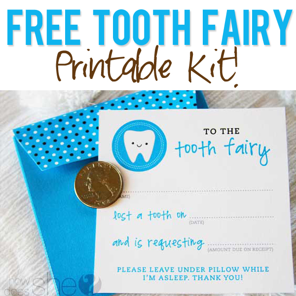 photo about Tooth Fairy Printable named Absolutely free Enamel Fairy Printables