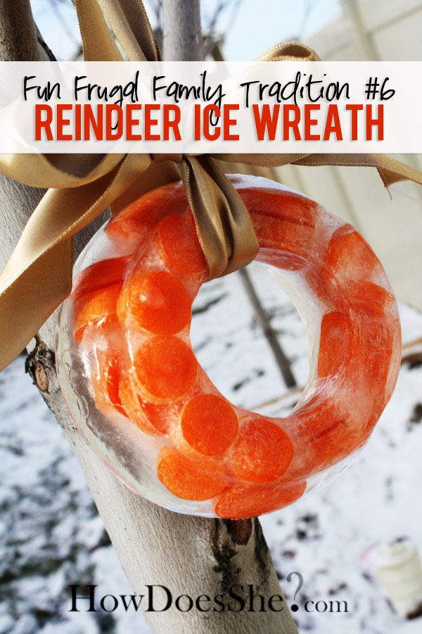Reindeer Ice Wreath