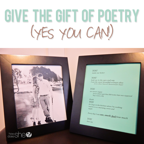 Give the gift of poetry (yes YOU can!)