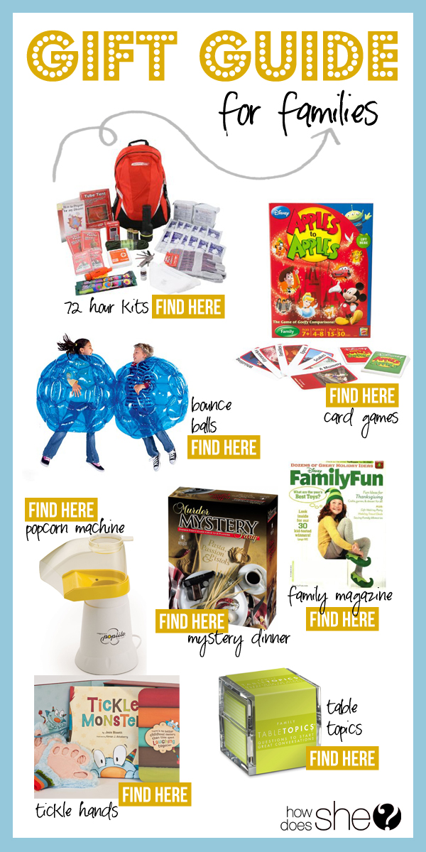 gift guide for families
