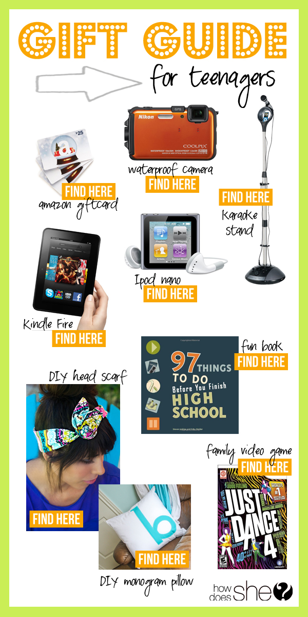 gift guide teenagers