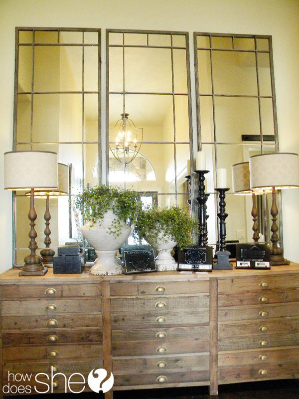 Vertical Console Table ~ Room by decorating secrets