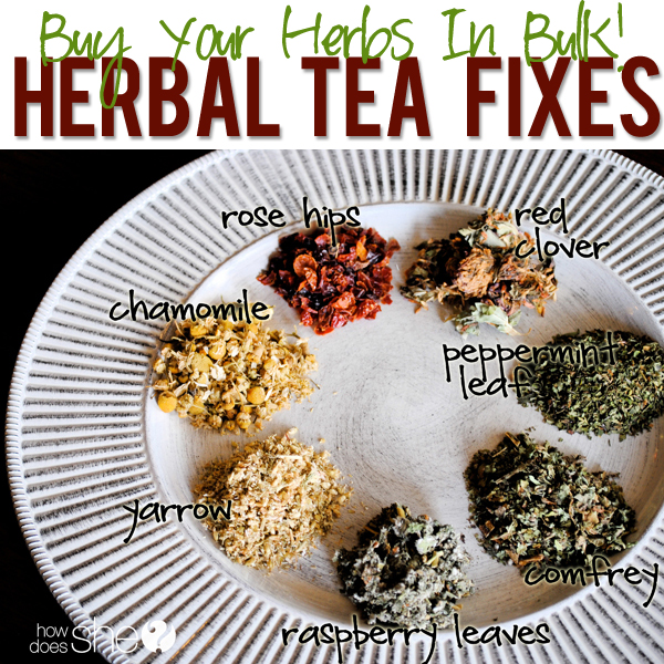 making your own herbal tea