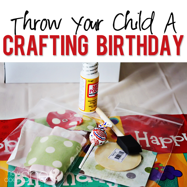 Craft birthday party for Crafts for birthday parties