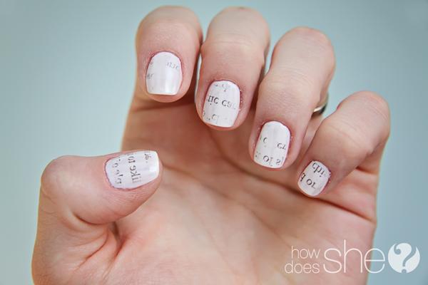 Diy Newspaper Nails Tutorial Easy And Cute Nail Art