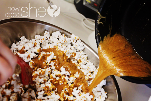 goose crunch popcorn treat