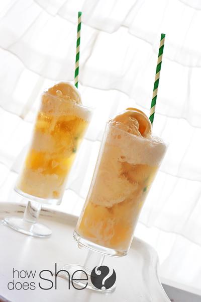 Apple Pie ice cream floats
