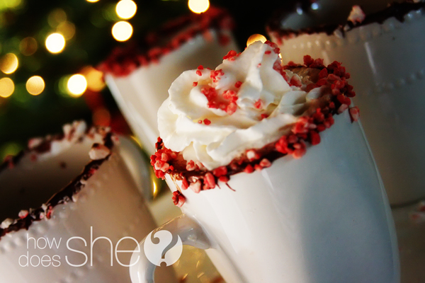 Peppermint-Rimmed Hot Cocoa