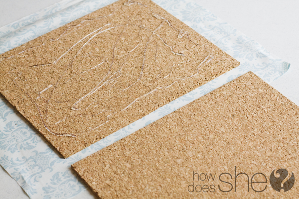 fabric covered cork board