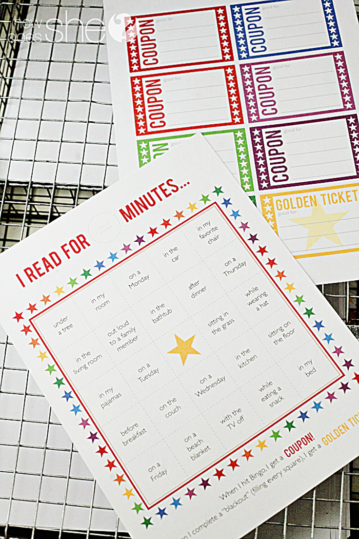Free printable summer reading kit