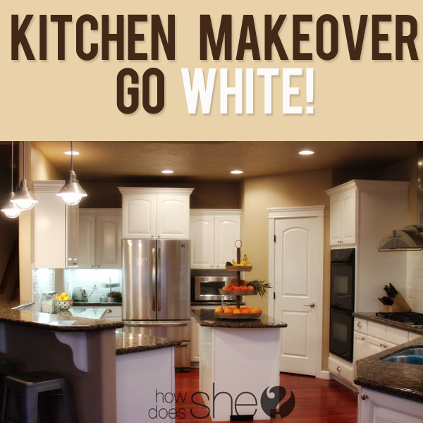 Kitchen Before and After GO WHITE