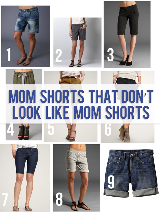 stylish mom shorts