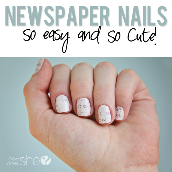 Diy newspaper nails tutorial easy and cute nail art newspaper nails prinsesfo Choice Image