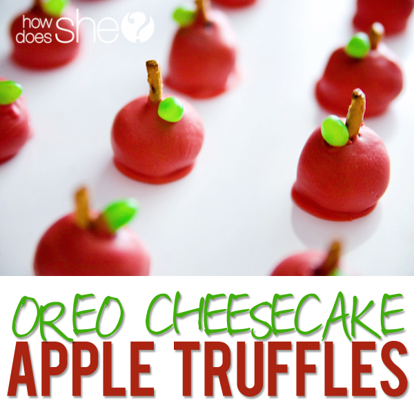 Amazing Oreo Cheesecake Apple Truffles!