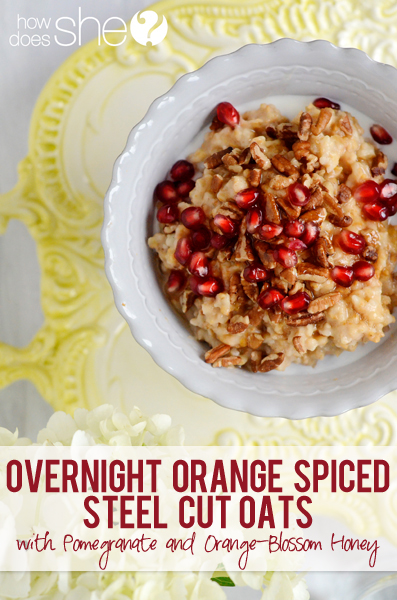 orange honey steel cut oats