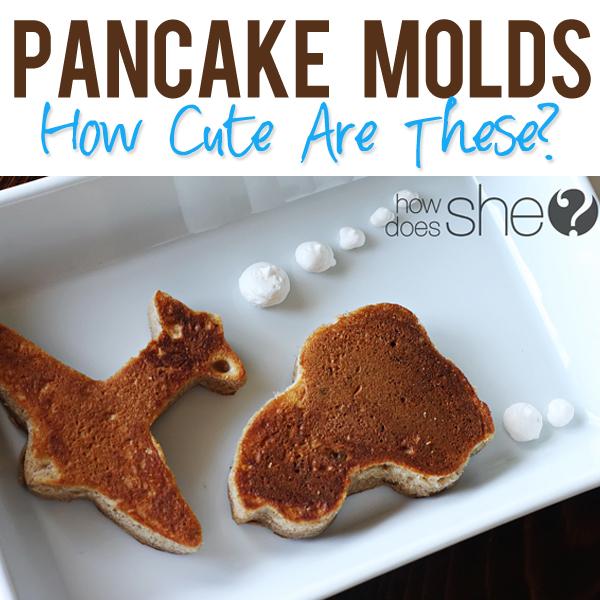 Pancake Molds so stinkin cute