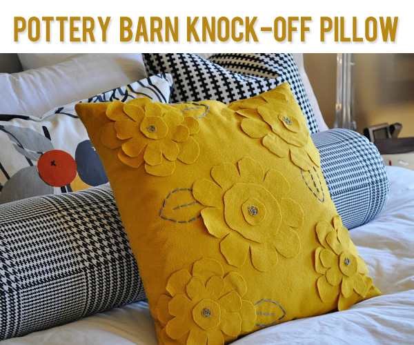 Pottery Barn Knock Off Pillow