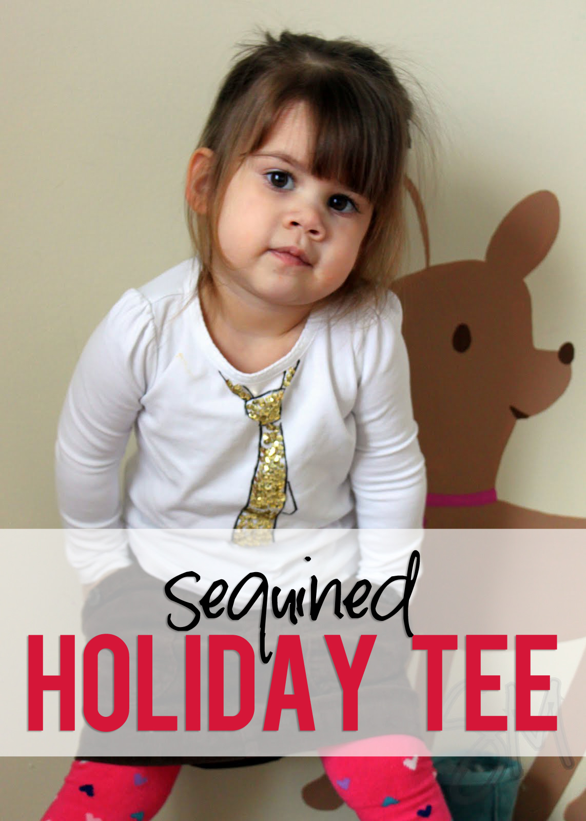 Sequined Holiday Tee