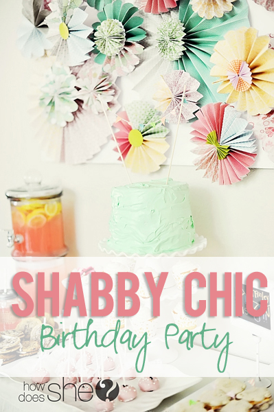 Shabby Chic Birthday Party