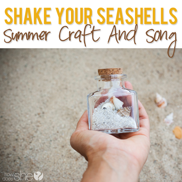 Seashells in a jar - cute summer craft idea
