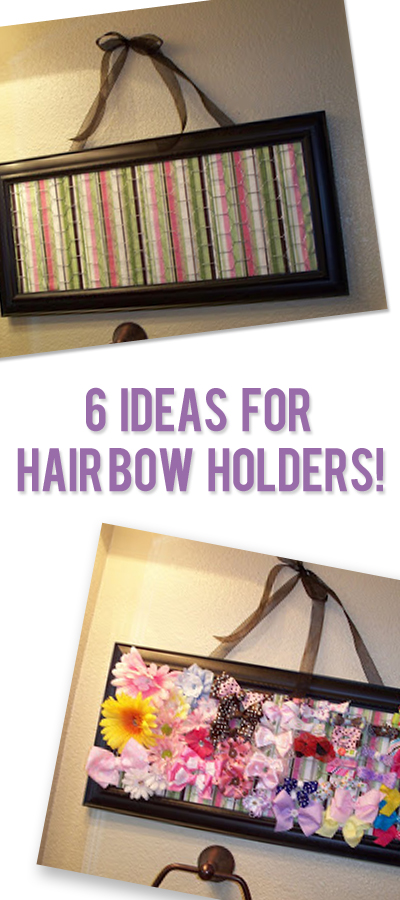 6 Ideas For Bow HOlders