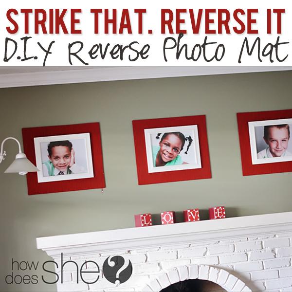 Strike that REVERSE IT diy reverse mat