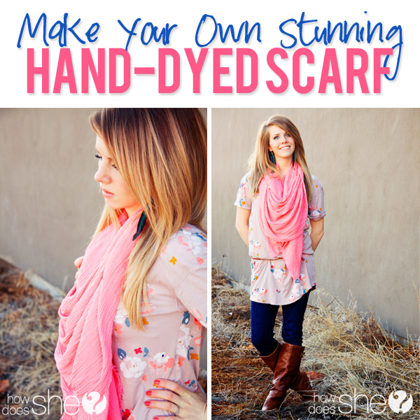 Stunning Hand Dyed Scarf