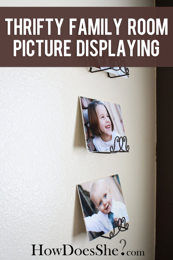 Thrifty family room picture display