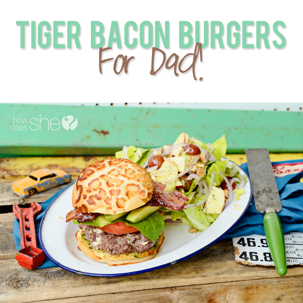 Tiger Bacon Burgers For Dad