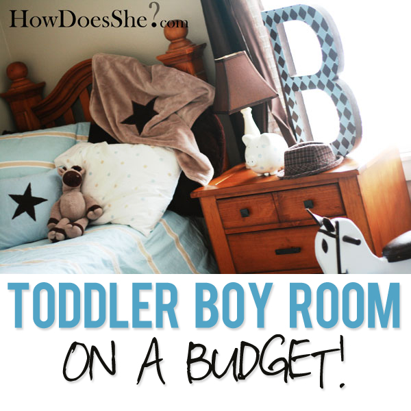 Decorating a Toddler Boy Room on a Budget