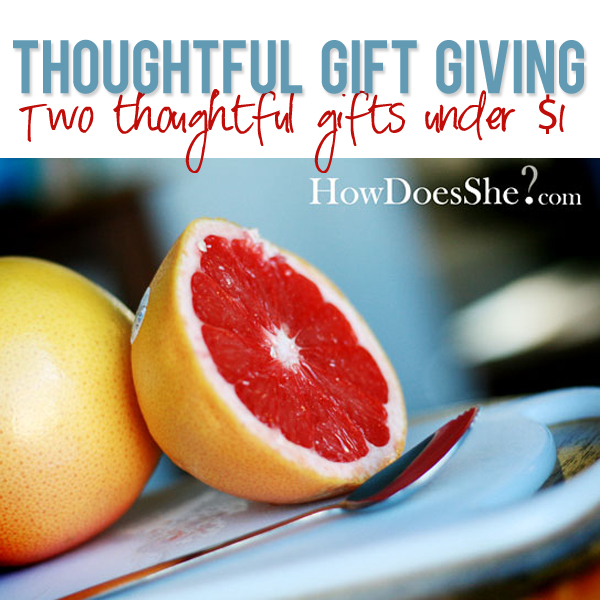 Two thoughtful gifts under $1
