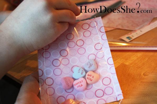 crafty valentine card