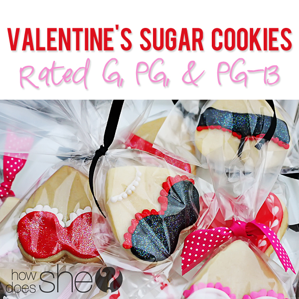 Valentines Sugar Cookies and lingerie cookies