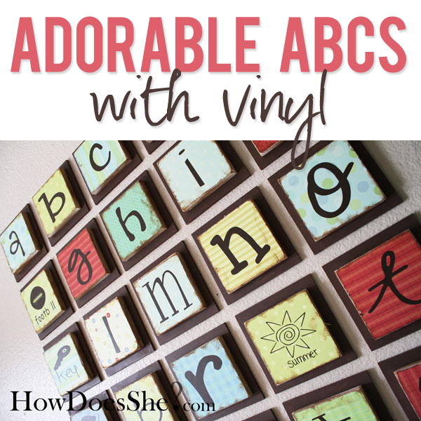 adorable ABCs with Vinyl