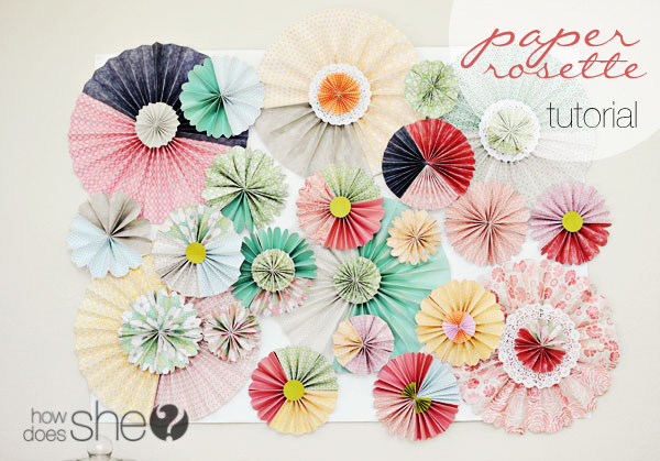 Chic paper rosette tutorial paper rosette tutorial mightylinksfo Choice Image