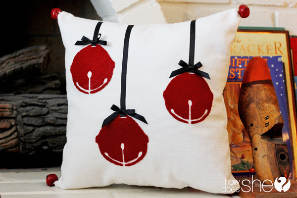Pottery Barn Inspired Jingle Bell Pillow