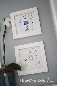 way to display kids art