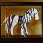 art display zebra