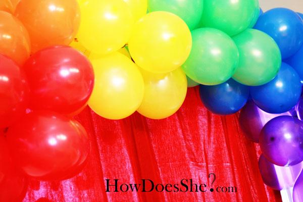 Polka Dot Rainbow Party